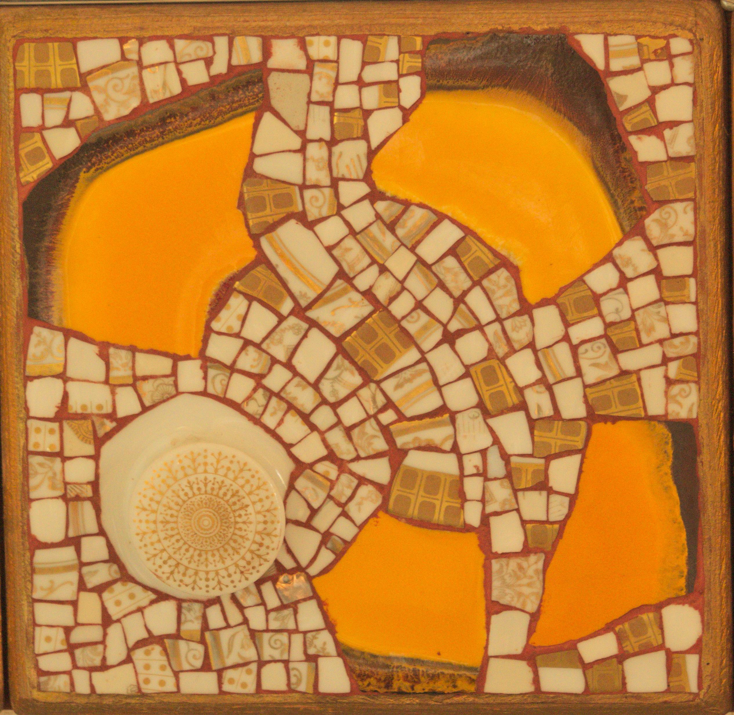 Detail 2 zum großen Spiegel. Künstler Josef Dieck.