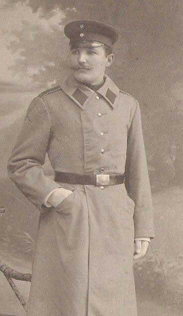 Wilhelm Dieck 1905 als einjährig Freiwilliger